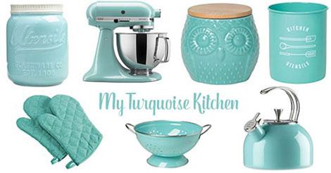 YankeeDesi.com - Turquoise Kitchen Accessories
